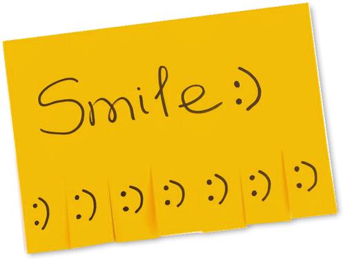 SMILEと書かれた付箋