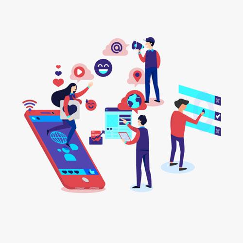 ウェブマーケティング事業:イラスト画像